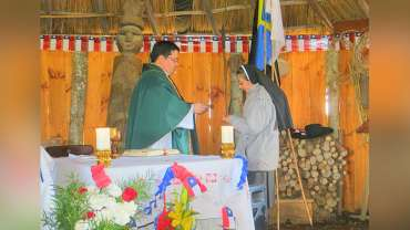 Misa a la chilena en Parque Eólico Lebu Toro