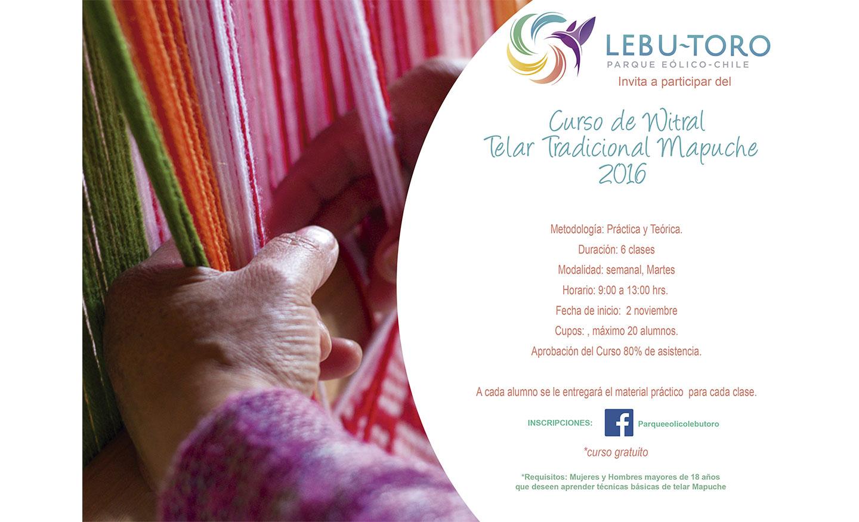 Se inician cursos de telar y cestería mapuche