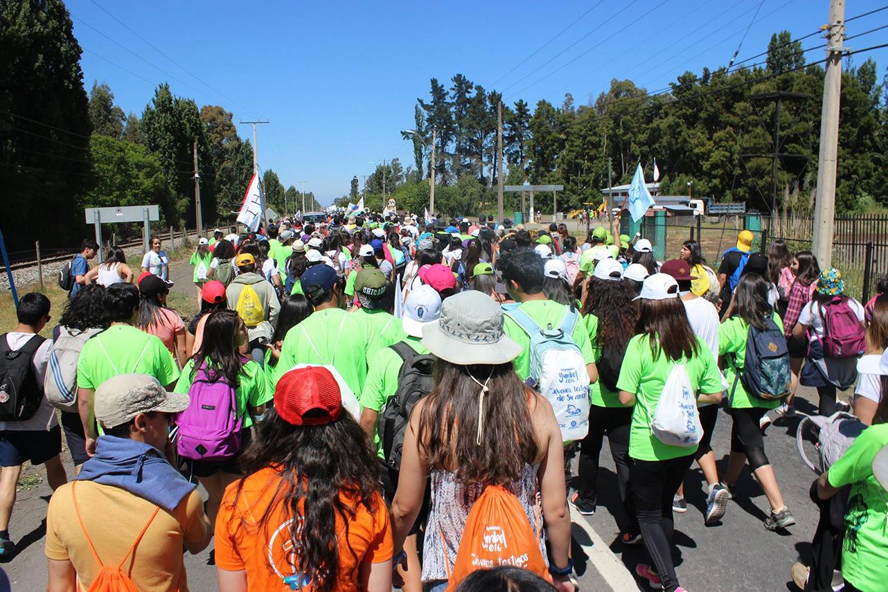 Parque Eólico ayuda a jóvenes peregrinos